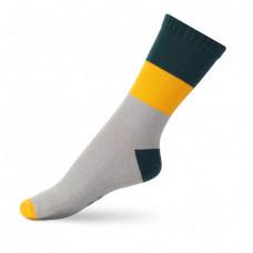 Шкарпетки дитячі V&Tclassic ШДКг 024-0440 Гаррі 18-20, Темно-зелений/св.сірий