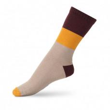 Шкарпетки дитячі V&Tclassic ШДКг 024-0440 Гаррі 22-24, Бордовий/св.бежевий