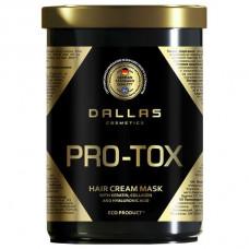 Крем-маска для відновлення структури волосся Dallas Hair Pro-tox з колагеном і гіалуроновою кислотою 1000 мл