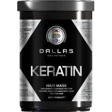 Крем-маска для волосся Dallas Keratin Professional Treatment з кератином і екстрактом молочного протеїну 1000 мл
