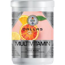 Енергетична маска для волосся Dallas Multivitamin з комплексом мультивітамінів, екстрактом женьшеню й олією авокадо 1000 мл