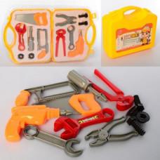 Набір інструментів YG914-10 шуруповерт, ключі, пила, викрутка, валіза, бліст., 39-23-5,5 с