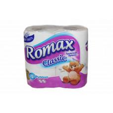 Туалетний папір Romax Classic 2 шари 4 шт