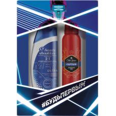 Подарунковий набір Head & Shoulders Шампунь Men Ultra Комплексний догляд 360 мл + Дезодорант Old Spice Spray WW 150 мл