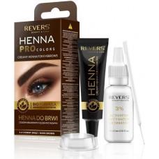 Кремова хна для брів Revers Henna Pro Colors Темно коричнева