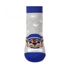 Шкарпетки дитячі V&T ШДУг  024-633 14-16 Сірий меланж/темно-синій