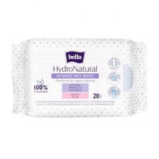 Вологі серветки для інтимної гігієни Bella Hydro Natural 20 шт