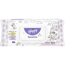 Дитячі вологі серветки Bella Baby Happy Sensetive Aloe Vera 56 шт