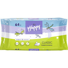 Дитячі вологі серветки Bella Baby Happy Classic 64 шт
