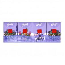 Паперові хусточки Bella Baby Happy  3 шари 9 х 8 шт