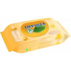 Вологі серветки Invista для дітей з перших днів життя біорозкладні 60 шт (клапан)