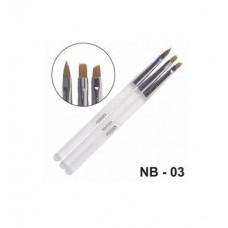 Кисті Christian для нарощування гелем та дизайну нігтів NB-03
