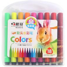 Фломастери-пензлики арт. 919-18 18 кольорів