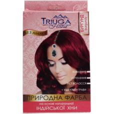 Натуральна фарба для волосся на основі хни Triuga Herbal Бургунд 25 г