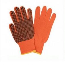 Рукавиці господарчі оранжеві Крапка