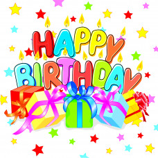 Серветки столові Luxy тришарові 33х33 см Подарунок на день народження 20 шт