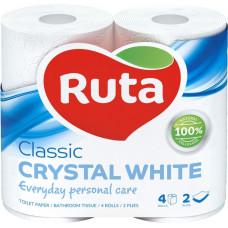 Туалетний папір Ruta Classic Білий 2 шари 4 рулони