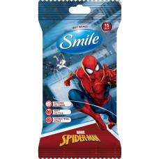 Дитячі вологі серветки Smile Antibacterial Marvel 15 шт