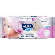 Дитячі вологі серветки Aura Baby з D-пантенолом 54 шт