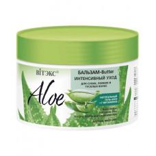 Бальзам-butter Витэкс Aloe+7 вітаминів інтенсивний догляд для сухого, ламкого і тьмяного волосся Aloe 97% 300 мл