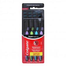 Зубні щітки Colgate Super Flexi black 4 шт середньої жорсткості