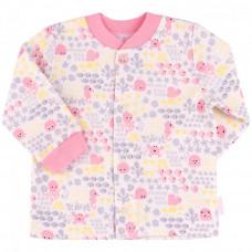 РБ 97 Кофтинка, байка р.56 молочний, рожевий, малюнок