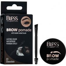 Помада для брів Bless Beauty Brow Pomade № 01 шоколад