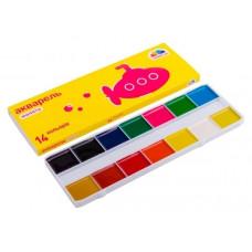 Фарба акварельна Гамма Малята  100103 14 кольорів