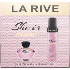 Жіночий подарунковий набір La Rive She Is Mine Парфумована вода + Дезодорант