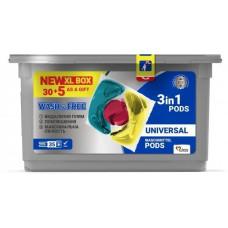 Капсули для прання WASH&FREE Universal 35 шт