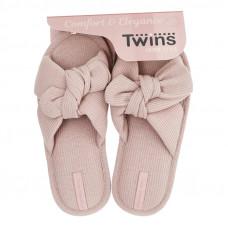 Капці домашні HS-VL Twins бант-перехрест бежеві р.36/37