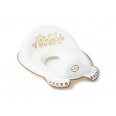 Туалетне сидіння Медведики з гумками протиковзними (Біла перлина) TEGA