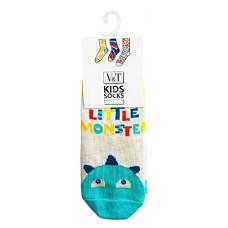Шкарпетки дитячі V&T ШДКг 024-942 8-10 Молочний меланж