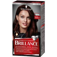 Інтенсивна крем-фарба для волосся Brillance 896 Чорно-бордовий 142.5 мл