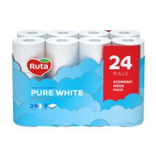Туалетний папір Ruta Pure White білий 3 шари 24 шт