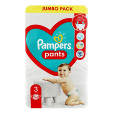 Підгузки-трусики Pampers Pants JUMBO PACK розмір 3 6-11кг 62 шт