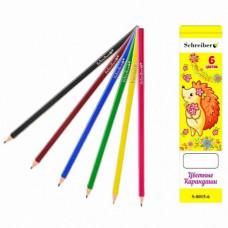 Олівці кольорові S-0015-6 6 кольорів