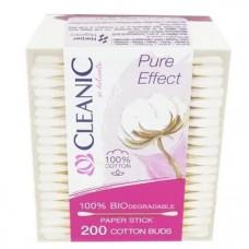 Ватні палички Cleanic Pure Effect в коробці 200 шт
