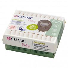 Ватні палички Cleanic Baby ECO, з обмежувачем в коробці  60 шт