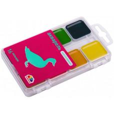 Фарби акварельні Гамма Захоплення 16 кольорів без пензлика
